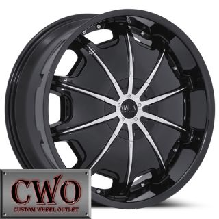 24 Black Status Opus Wheels Rims 6x139 7 6 Lug Chevy Tahoe Escalade