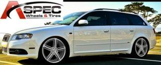 19x8 Alloy Audi 5x112 ET32 Hyper Silver Rims Wheels