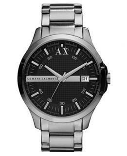 Armani Exchange Watch, Mens Stainless Steel Bracelet 46mm AX2103