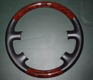 VW Passat B5 Steering Conversion Wheel Cap Case Cover Shell Wood Black