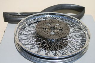 DAVIDSON 21 STAINLESS STEEL TWISTED SPOKE FRONT TWIN DISC ROTOR RIM