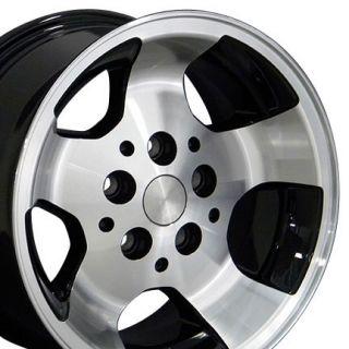 15x8 Black Wrangler Wheels Rims 30x9 5 Tires Fits Jeep
