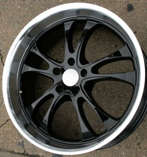STERLING 20 BLACK RIMS WHEELS CROWN VICTORIA 93 02/ 20 x 8.5 5H +20
