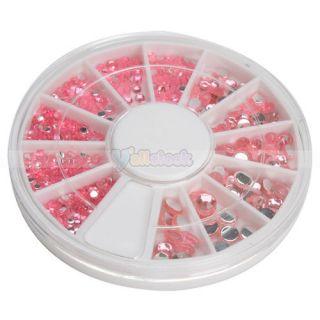 New Wheel Case Nail Art Decoration Round Pink 13