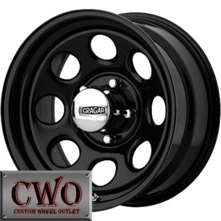 Black Cragar Soft 8 Wheels Rim 5x114.3 5 Lug Jeep Wrangler Ford Ranger