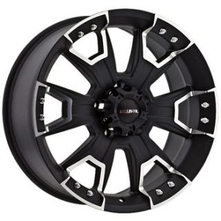 15x8 Ballistic Wheels 904 Havoc 6x139 7 Et 27 Flat Black 1 New Rim