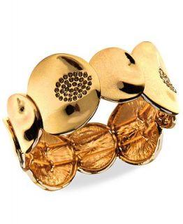 Jones New York Bracelet, Gold tone Glass Stone Stretch Bracelet