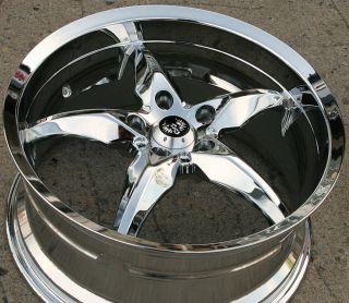 Stern Yoshi ST6 18 Chrome Rims Wheels Benz S320 S420 18 x 8 5 5H 35