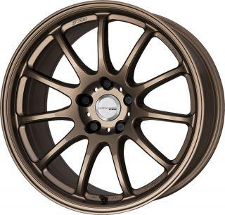 Work Emotion 11R 18 Bronze Wheels Impreza STI EVO 8 9