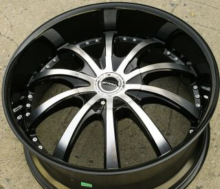 22 Black Rims Wheels Impala Caprice Chevrolet 22 x 9 5 5H 18