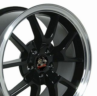 18 9 10 Black FR500 Style Wheels Rims Fit Mustang® 94 04