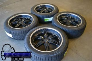 22 FOOSE DF 6 Black Chrome Wheels Rims Ford F150 Expedition Pirelli