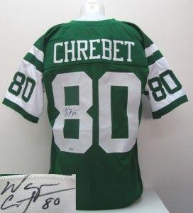 Wayne Cherbet Signed New York Jets Custom Green Jersey Steiner