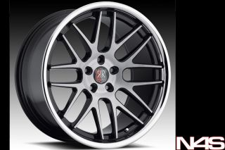 Infiniti G35 Coupe Roderick RW 6 Concave Staggered Wheels Rims