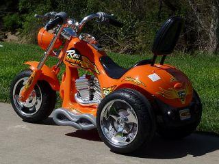 Kids Orange Ride on Chopper Power Motorcycle 12V Wheels