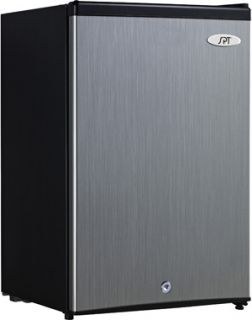 Steel Upright Freezer w/ Locking Reversible Door   Compact 0°F Fridge