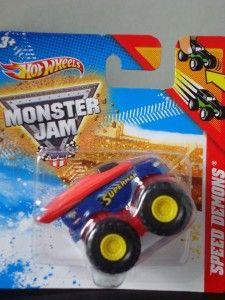 Hot Wheels Monster Jam Mini Speed Demons Superman Monster Truck Hard