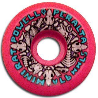Powell Peralta Mini Rats Skateboard Wheels 57mm 97A Pink