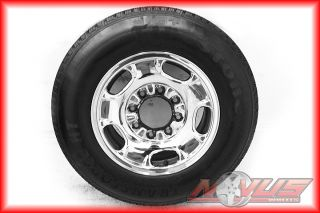 SILVERADO TAHOE GMC SIERRA 2500 CHROME STEEL OEM WHEELS TIRES 16 2011