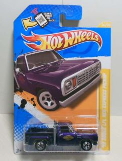 HOT WHEELS 2012 NEW MODELS #34 78 DODGE LIL RED EXPRESS PICKUP 2ND