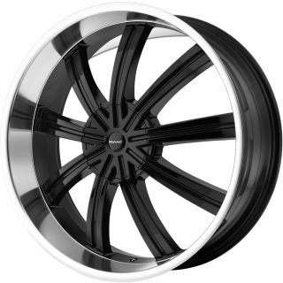 24 Black KMC Widow Wheels Rims Chevy Tahoe Silverado Yukon Ford F150