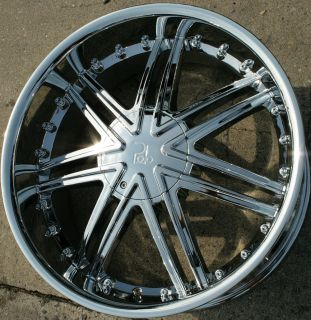 Polo Lupus 981 22 Chrome Rims Wheels Nissan Titan Pickup 04 Up 22 x 9