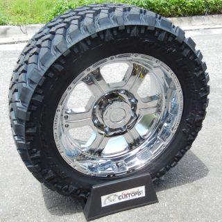 20 Chrome Procomp Wheels Rim 33 Nitto Trail Grappler Tires Chevy GMC