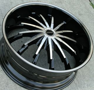 262 22 Black Rims Wheels Fusion Flex Mustang 22 x 8 5 5H 40