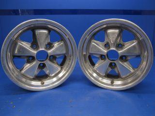 1978 1989 944 1982 1988 Fuchs 7 x 15 Polished Wheels Alloy Rims