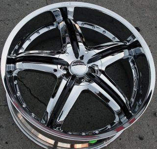 DC26 22 CHROME RIMS WHEELS FORD FUSION FLEX MUSTANG / 22 X 9.0 5H +35