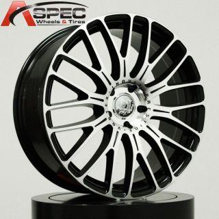 19 Inovit Vortex 5x130 Black Machined Face Rims Wheels