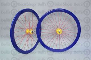 Velocity B43 Track Wheels Primary Color Blue Yellow Red Fixed Gear