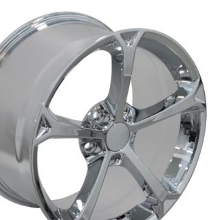 Corvette Grand Sport Chrome Wheels Set of 4 Rims Fit Chevrolet