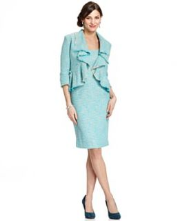 NEW Jones New York Dress and Jacket, Sleeveless Tweed Sheath