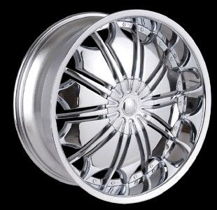 26 inch T706 Chrome Wheels Rims GMC Yukon Denali Sierra