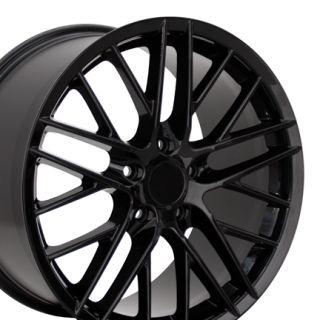 18 Corvette C6 ZR1 Black Wheels Set of 4 Rims Fits Chevrolet