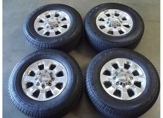 18 GMC Sierra 2500HD Wheels Rims Tires 11 12 Polished 2500 HD Sle