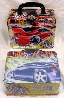 Hot Wheels Tin Lunch Box Carry Case