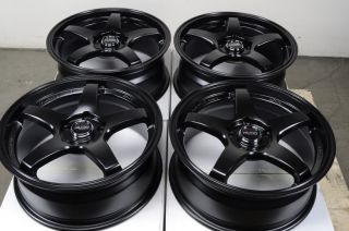 Black Wheels Lexus Mazda 3 6 Lancer Civic G35 Accord 5 Lug Rims