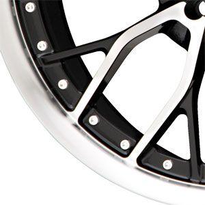 17X7.5 5 110/5 115 Liquid Metal Wire Black Machined Face Wheels/Rims