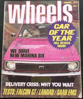 Wheels 1974 01 Ford Falcon XB GT Landau Marina Celica