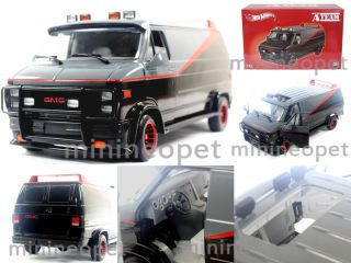 Hot Wheels X5531 The A Team GMC Classic Van 1 18 Diecast Black