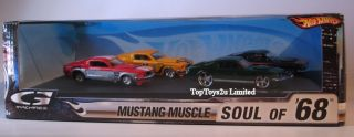 Hot Wheels G Machines Mustang Muscle Soul of 68 Cars