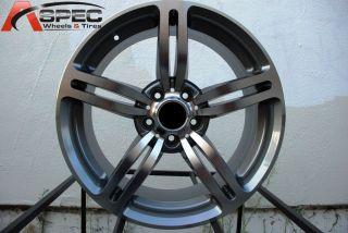 Gun Metal Machined Wheel Fit BMW E39 E60 525 528 535 545i Rims