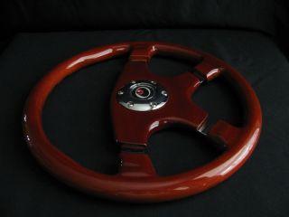 New 15 Designo 4 Spoke Wood Grain Steering Wheel