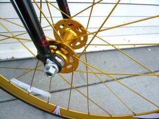 Fixed Gear Alloy Road Bike 53 cm w Deep 50cm Rims Gold Handlebar Matt