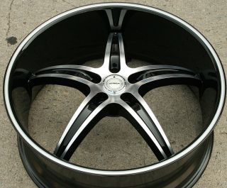 Riga 232 22 Black Rims Wheels Endeavor 03 Up 22 x 8 5 5H 40