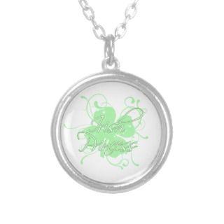 Irish Princess Shamrock Swirl Personalized Necklace