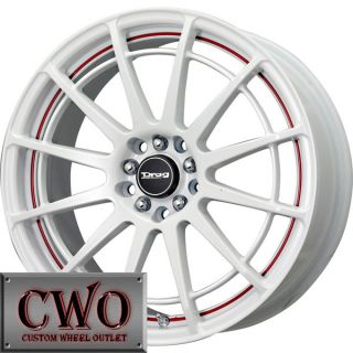 17 White Drag Dr 42 Wheels Rims 4x100 4x114 3 4 Lug Civic Integra