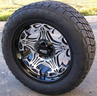 17 Motometal Skull Wheels Nitto Terra Grappler Tires Chevy GMC 4x4